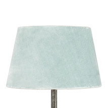 Lampshade velvet turquoise small