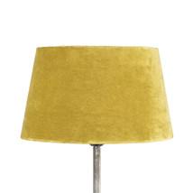 Lampskärm sammet gul mellan