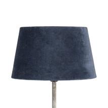 Lampskärm midnattsblå sammet mellan
