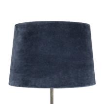 Lampskärm sammet midnattsblå stor