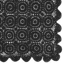 Virkad pläd svart 140x180
