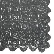 Virkad pläd grå 140x180