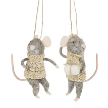 Grey mice set of 2