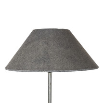 Lampshade grey linen 14x35x15