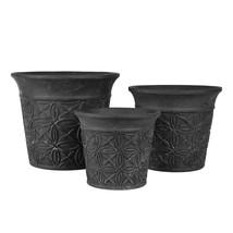 Kruka svart terracotta set 3
