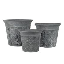 Kruka grå terracotta set 3
