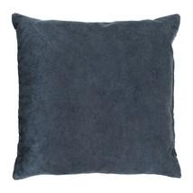 Kuddfodral bomull 50x50 mörk gråblå
