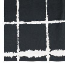 Bomullsdauk/lakan 150x220 vitsvart batik
