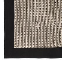 Bomullsduk 150x220 svartbeige slinga