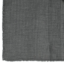 Pläd våffla lin grå 130x180
