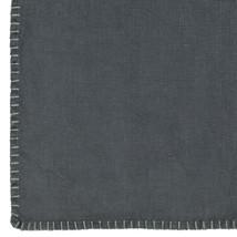 Linneduk svart med söm 150x250