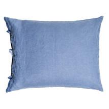 Kuddfodral lin 50x60 blå