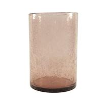 Stor glas med bubblor l-lila