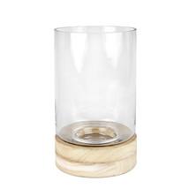 Stormglas/trä cylinder 30 cm