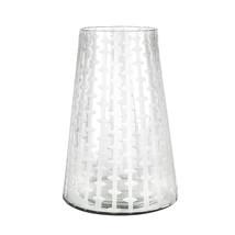 Glasvas med etsning 31 cm