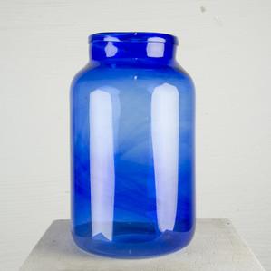 Glasvas stor blå