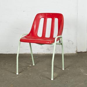Plast stol röd