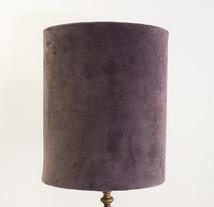 Lampskärm sammet 31 cm lila