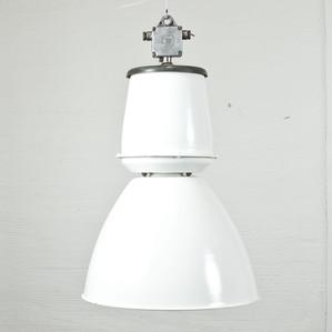 Industrilampa stor vit