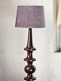 Lampskärm sammet brunlila
