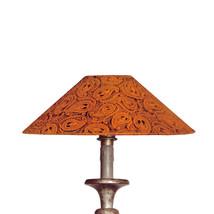 Lampskärm orangeröd papp