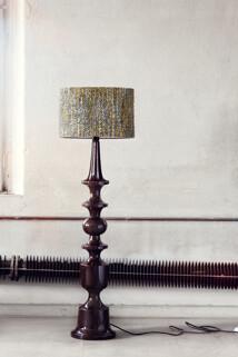 Lampskärm cylinder svartmelera