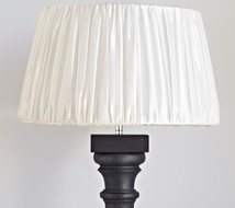 Lampshade polysilk offwhite