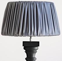 Lampskärm polysilk grå