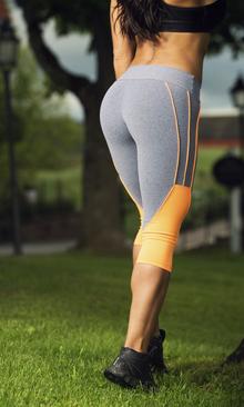 Bia Brazil Short Leggings 3121 Light Grey / Orange.