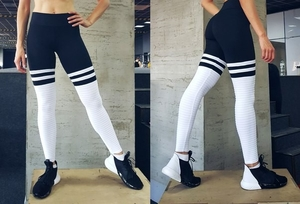 High Sox Leggings Black/White