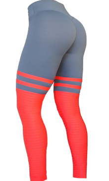 High Sox Leggings Grey/Red
