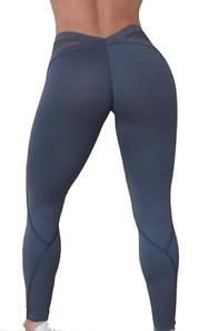 RAW By Adriana Kuhl Bubble Butt Tights Grey