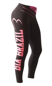 Bia Brazil Leggings 3115 Black / Hot Pink Printed