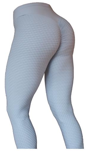 Brazilian Butt Scrunch Leggings Light Grey