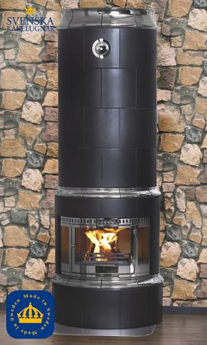 Lilian med förnicklad lucka för bakansluten skorsten, höjd 2350 mm