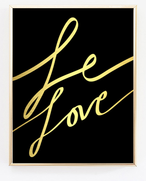Le Love Gold Noir