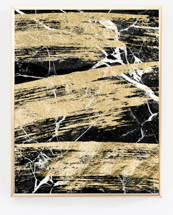 Marble Big Strokes Black