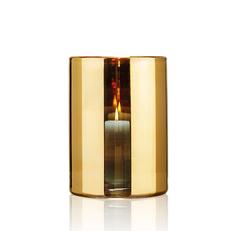 HURRICANE LAMP LARGE GOLD