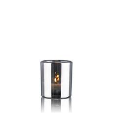 HURRICANE LAMP SMALL SILVER