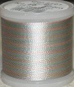 Flerfärgad tråd, Pastell i olika toner mot vitt Col.2101