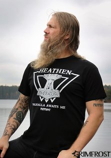 T-shirt, Heathen, Black