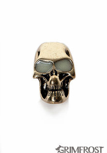 "Beard Bead, Skull ""glow-in-the-dark"""