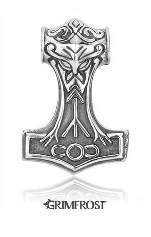 Large Thor's Hammer, Silver
