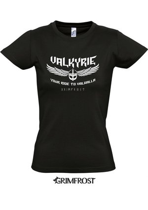 Girlie-Shirt, Valkyrie, Black
