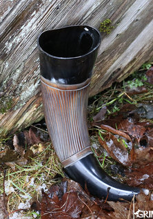 Drinking Horn, Carved