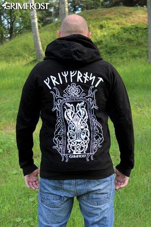 Zip Hoodie, Runestone, Black