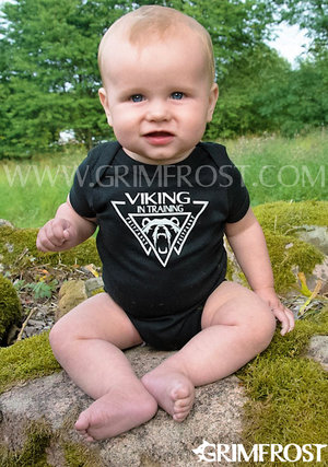 Baby Bodysuit, Viking, Black