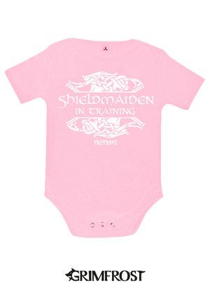 Baby Bodysuit, Shieldmaiden, Pink