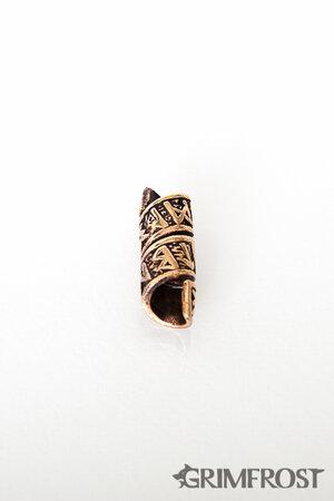 Beard/Hair Bead, Bronze with Runes
