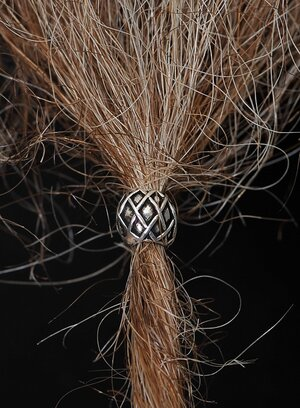 Beard/Hair Bead, Silver